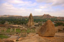 a view from the way t hampi royal enclosures