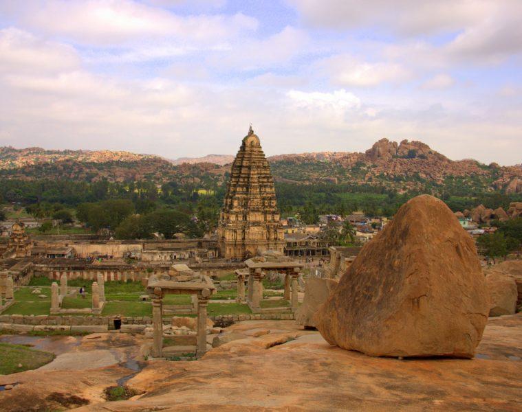 a view from the way t hampi royal enclosures