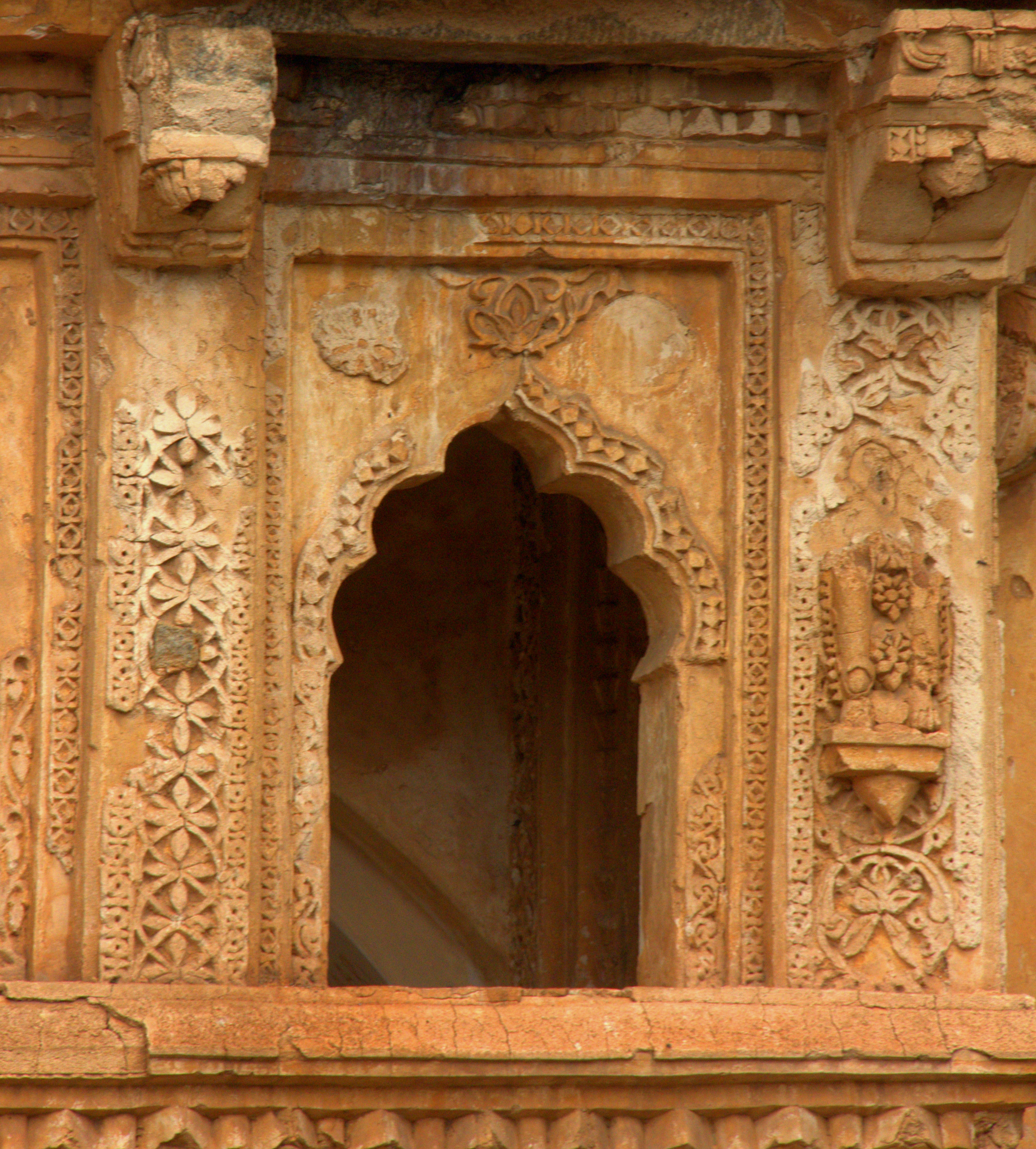 The details at the Queen's Bath in Hampi Royal Enclosures