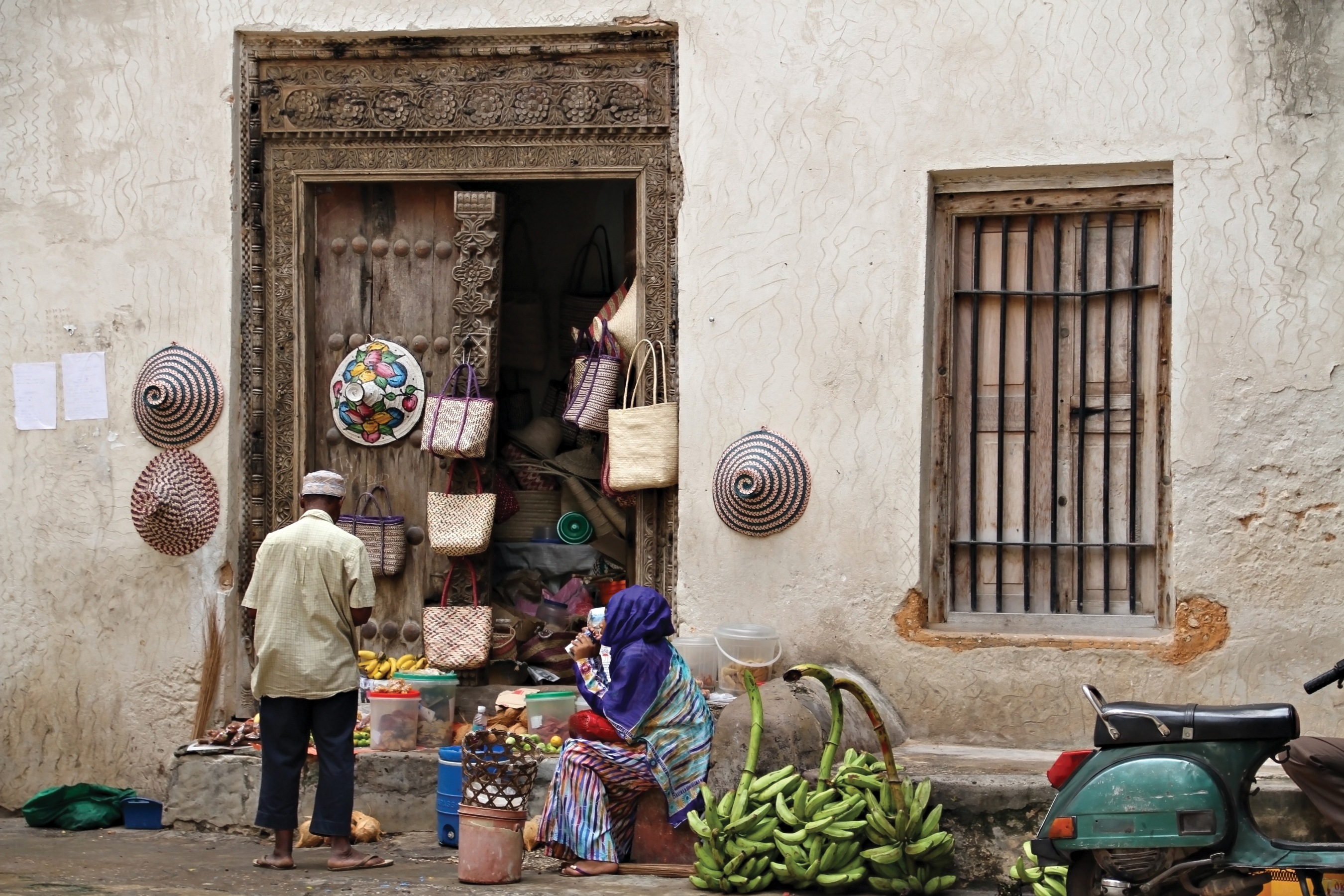 A fruit shop in Stone Town