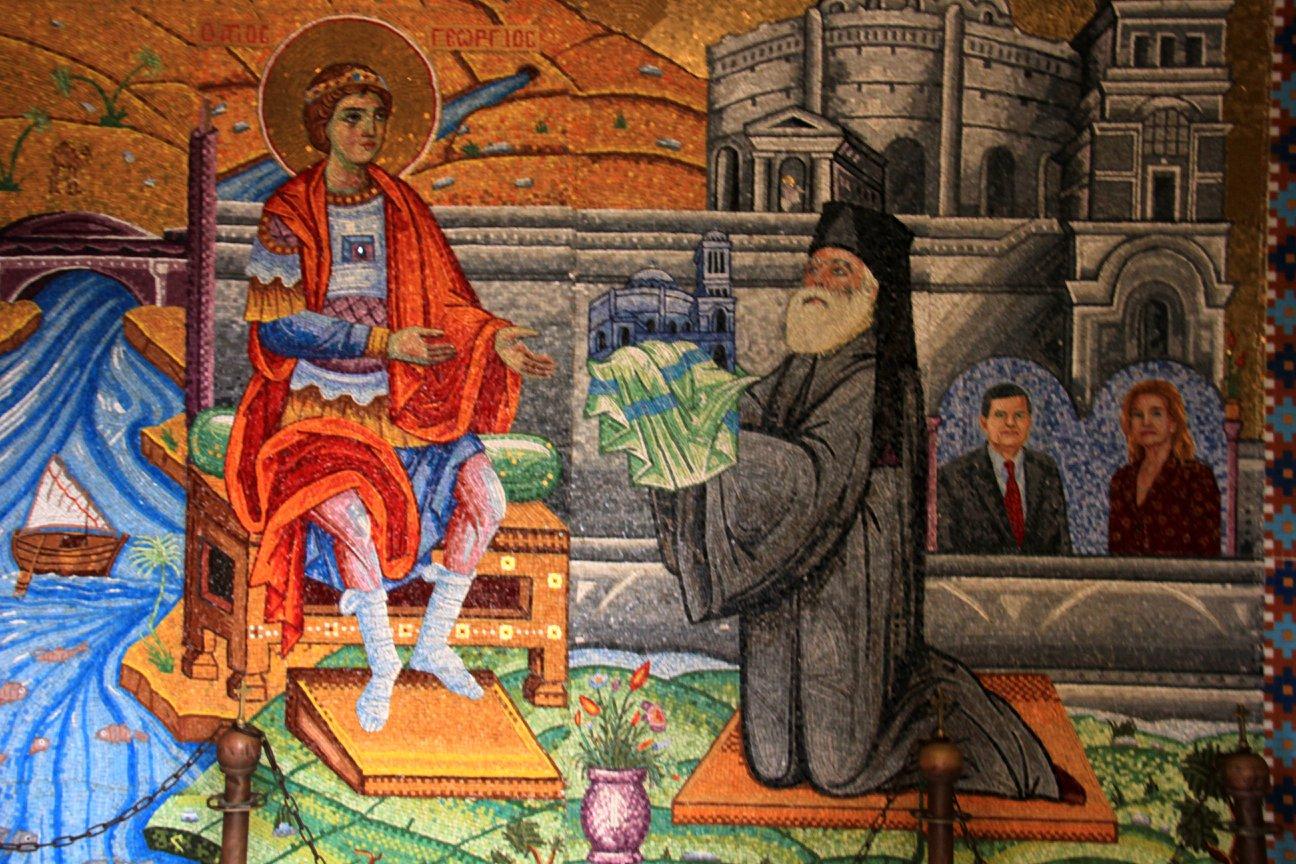 Iconography inside Coptic Cairo churches