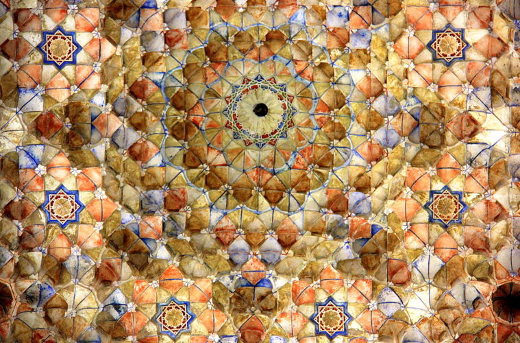 beautiful ceiling designs in a madrasa in granada