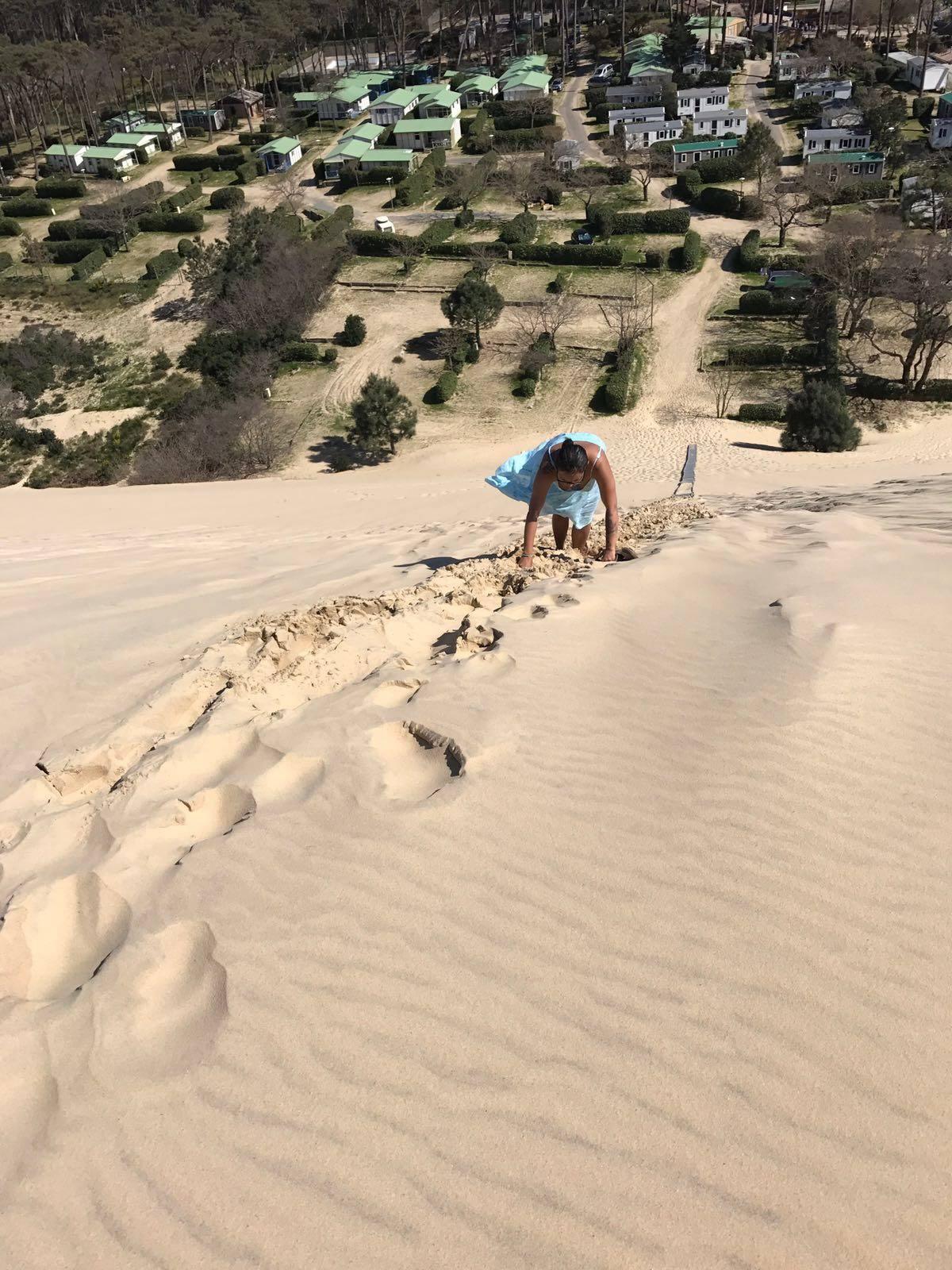 climbing dune de pilat in france
