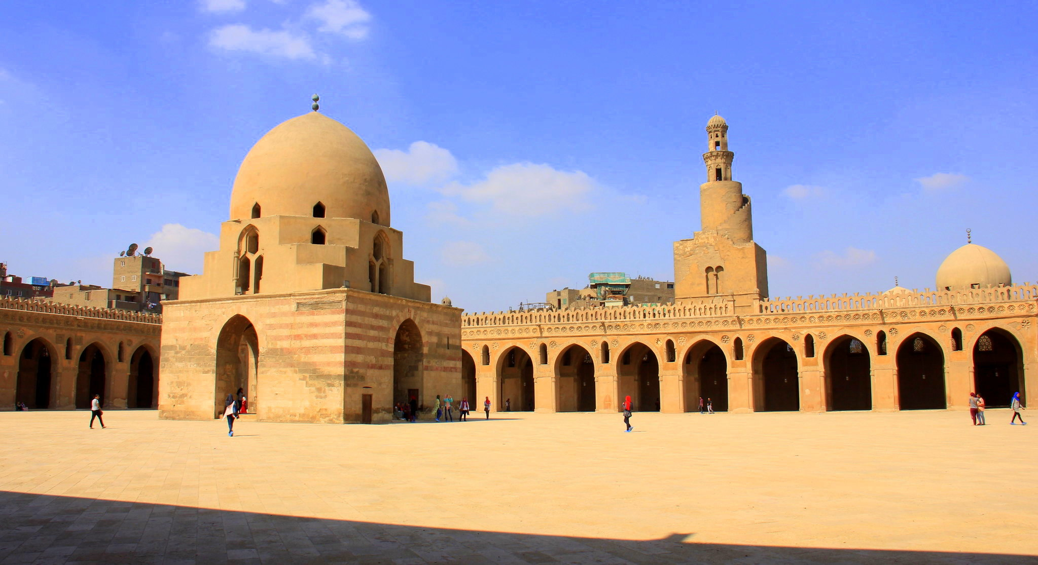 This is the Ibn Tulun Mosque of Cairo