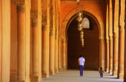 the massive ibn tulun mosque of cairo