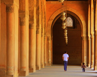 the massive ibn tulun mosque of cairo