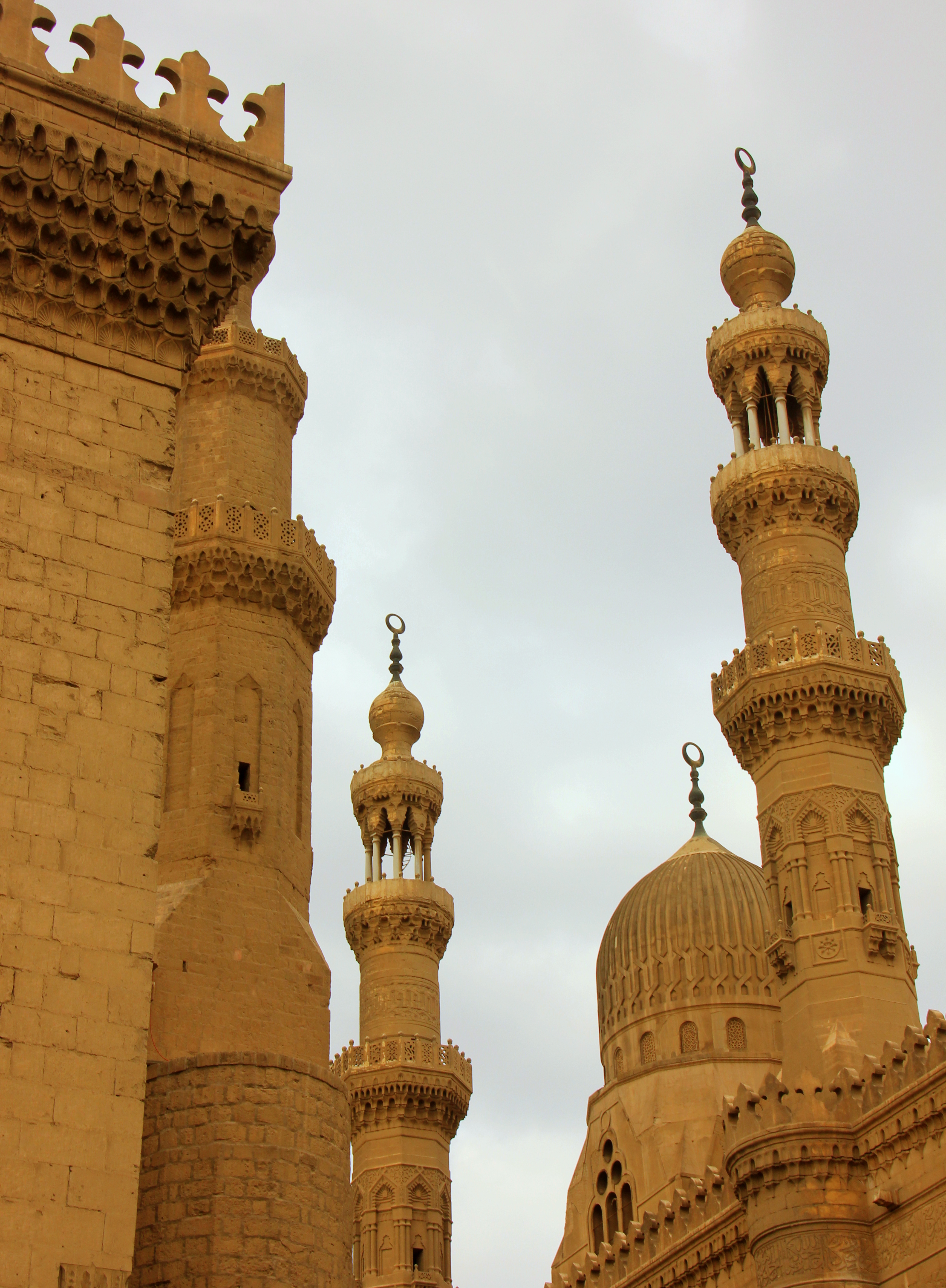 Details on the minarets of Sultan Hassan Mosque Madrassa