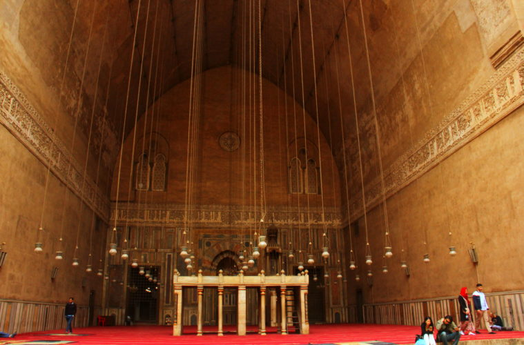 liwan of sultan hassan mosque madrassa in cairo