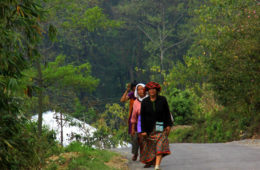 women walking home in Kalimpong