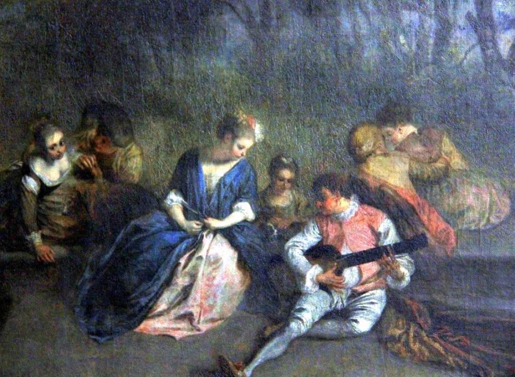 painting inside the sanssouci palace
