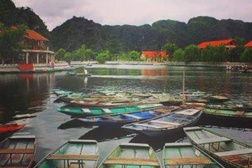 boat pier for perfume pagoda