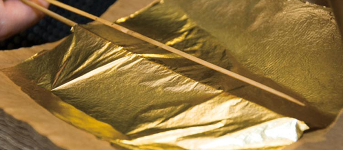 Gold foil made by pannigars of jaipur