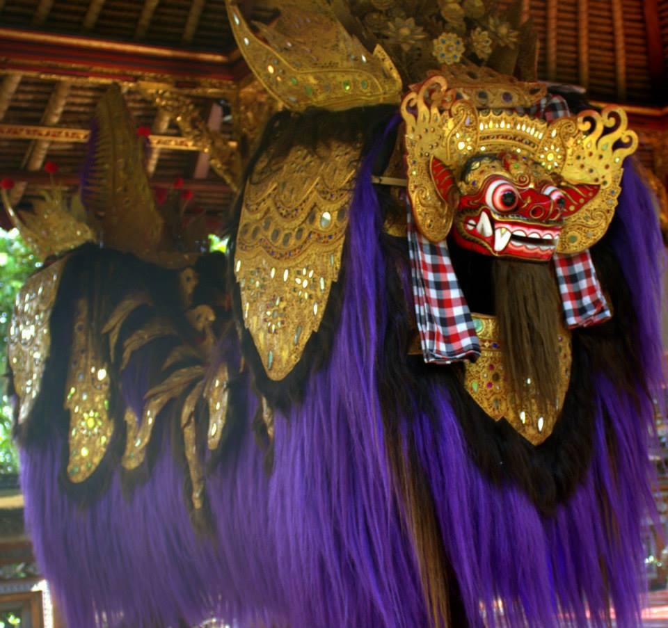 holy temple masks in ubud, bali