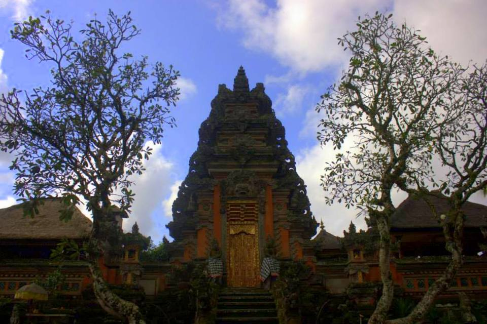 a temple in Ubud in Bali