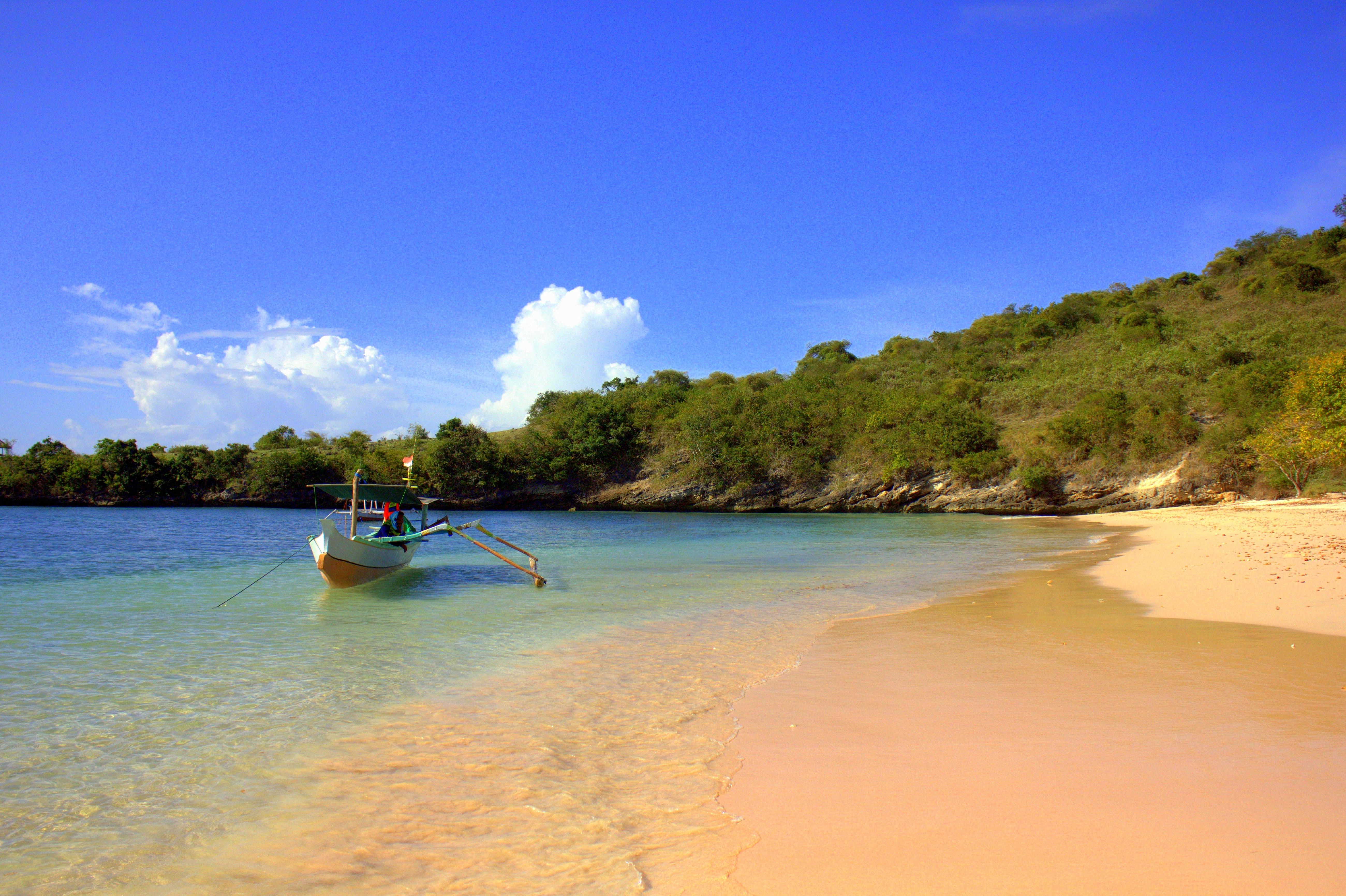 a beautiful beach in lombok