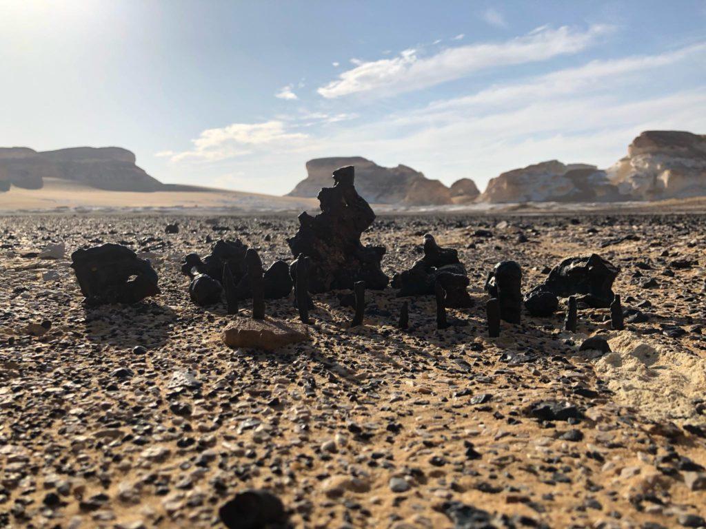Scattered basalt rocks at the Black Desert