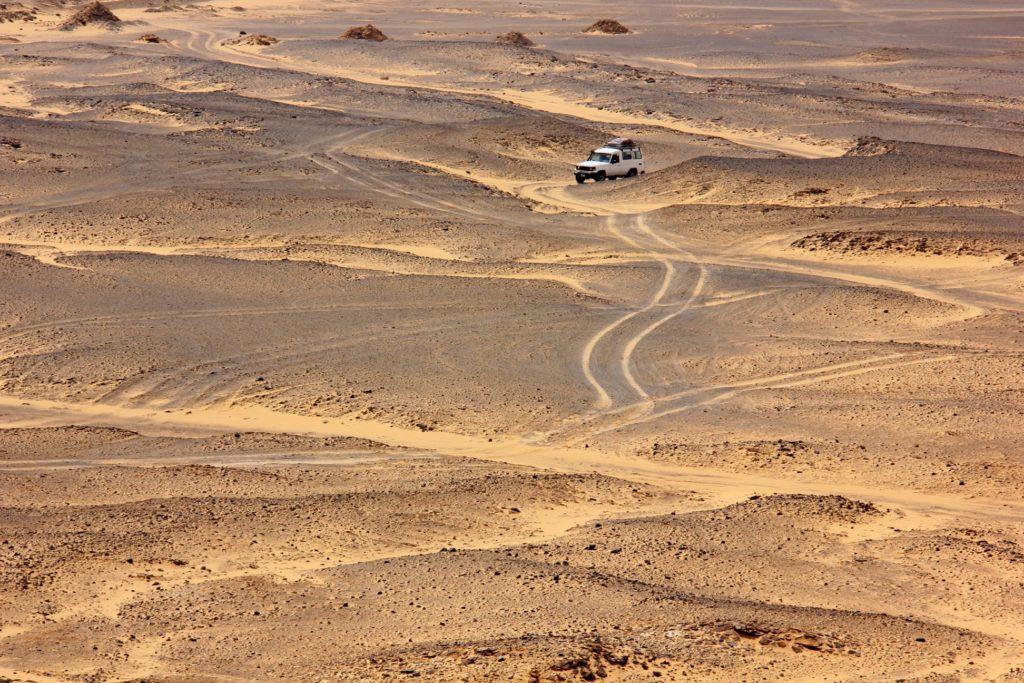 The black desert has a vast empty space