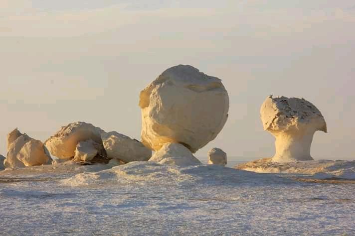 White Desert has a strange surreal landscape