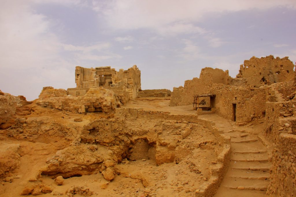 The ruins of the famous temple of Amun in siwa oasis