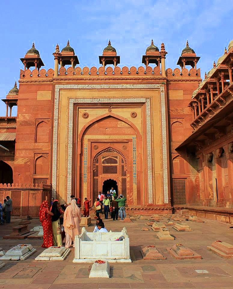 Inside the Fatehpur Sikri complex