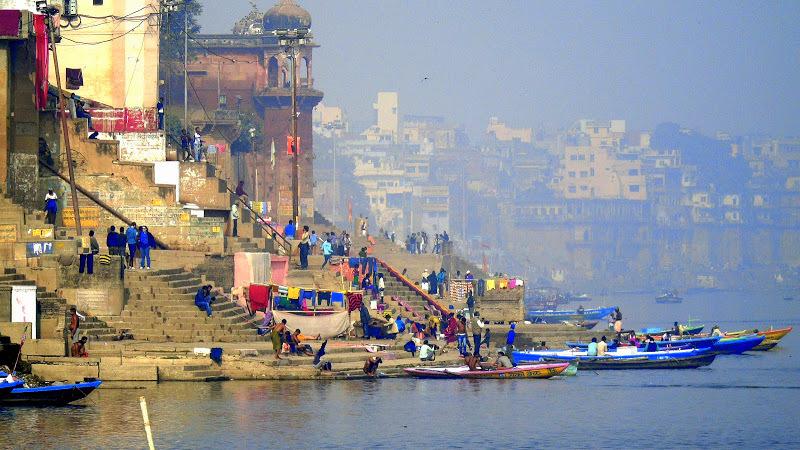 A view of the Varanasi ghats