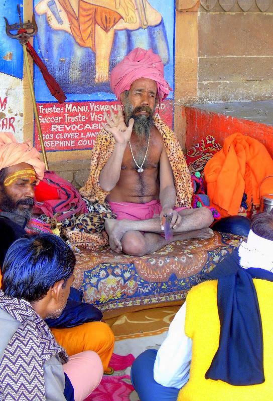 a sadhu at Varanasi ghat