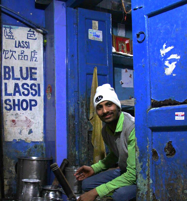 Varanasi blue lassi shop