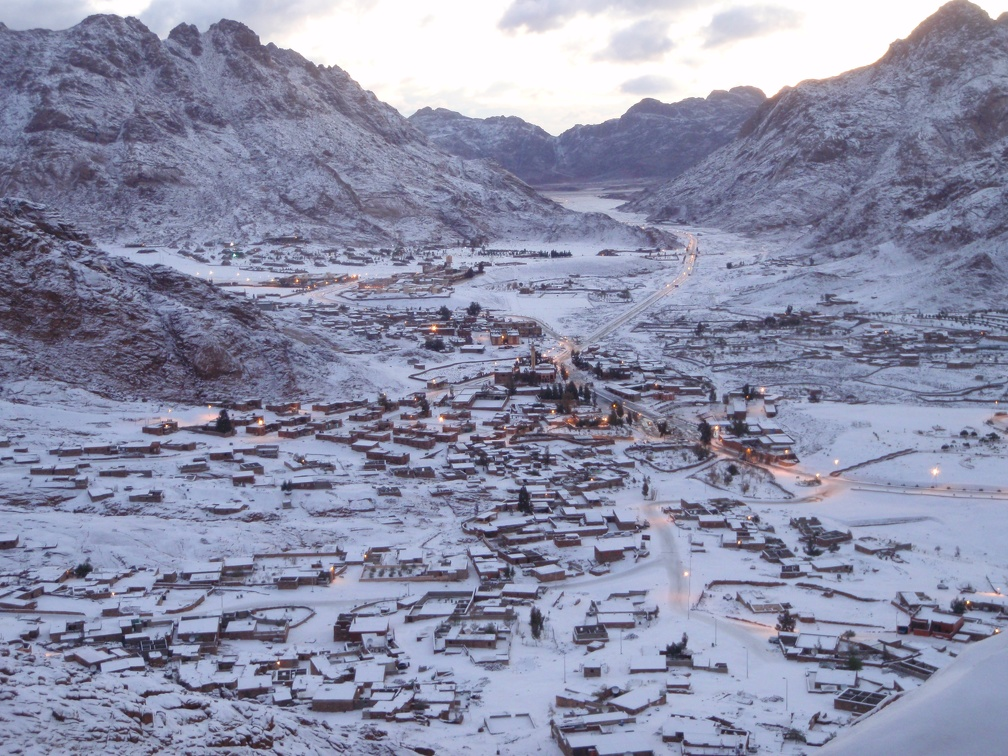 snow in St.Katherine in winter