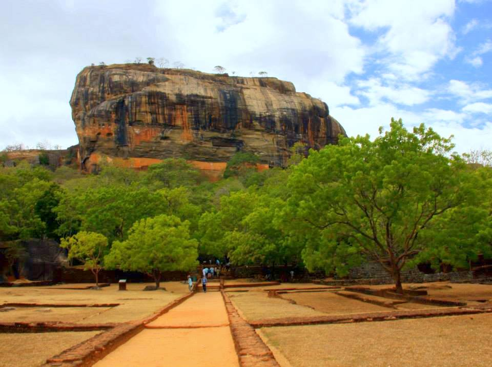 the beautiful sigiriya or the lion rock