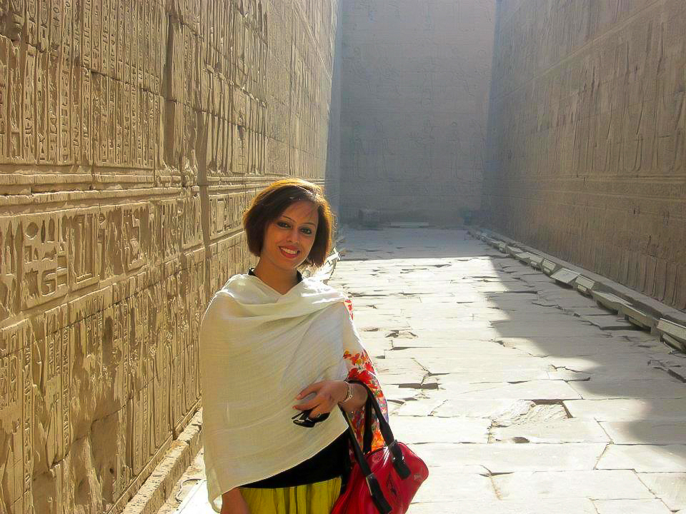 The exquisitely engraved walls of Edfu temple