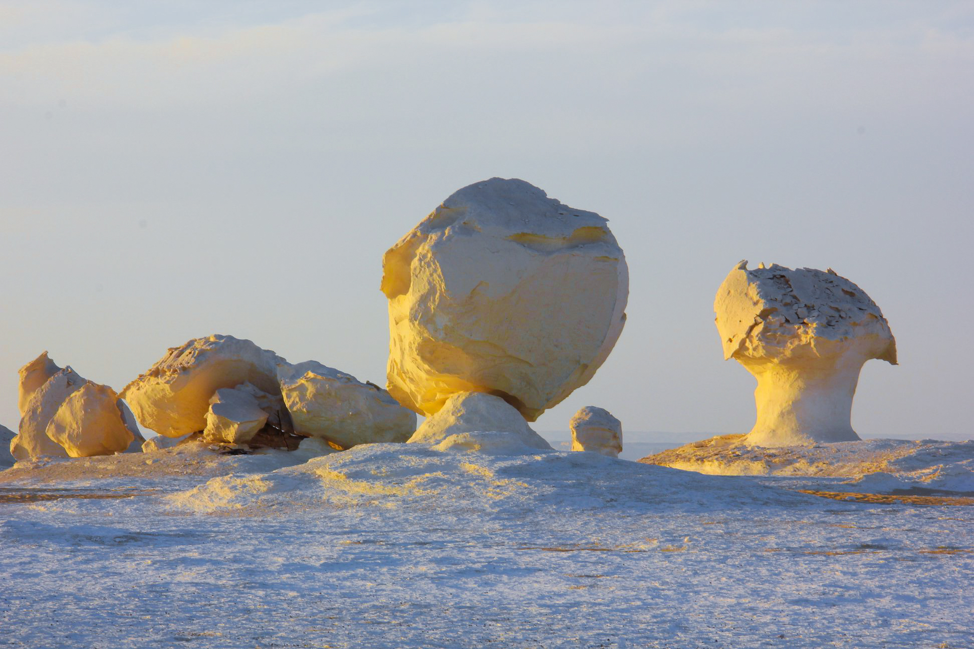 white desert trip view