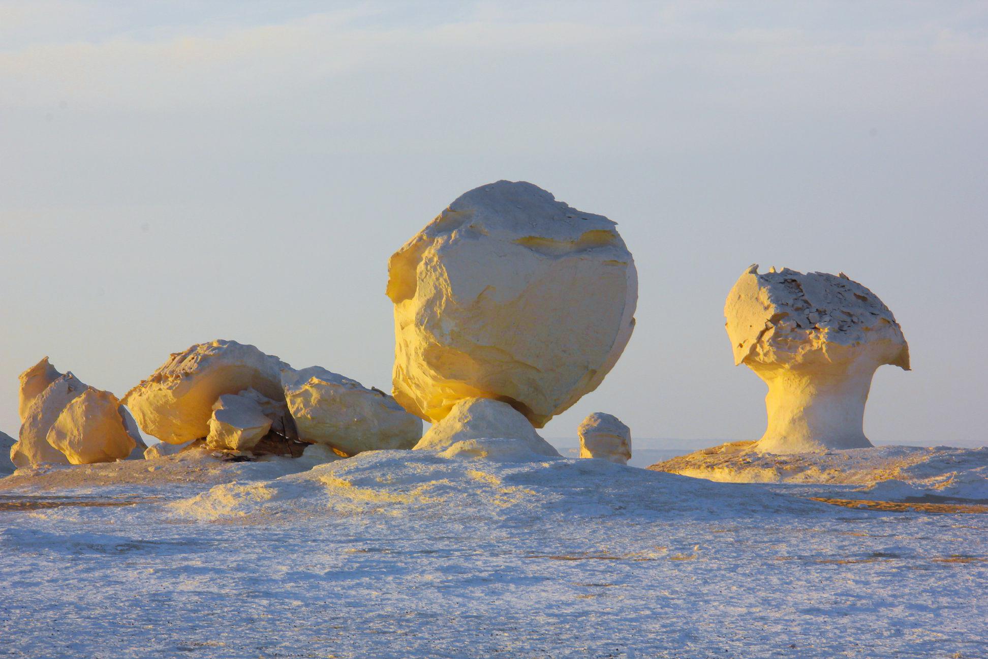 white desert trip view