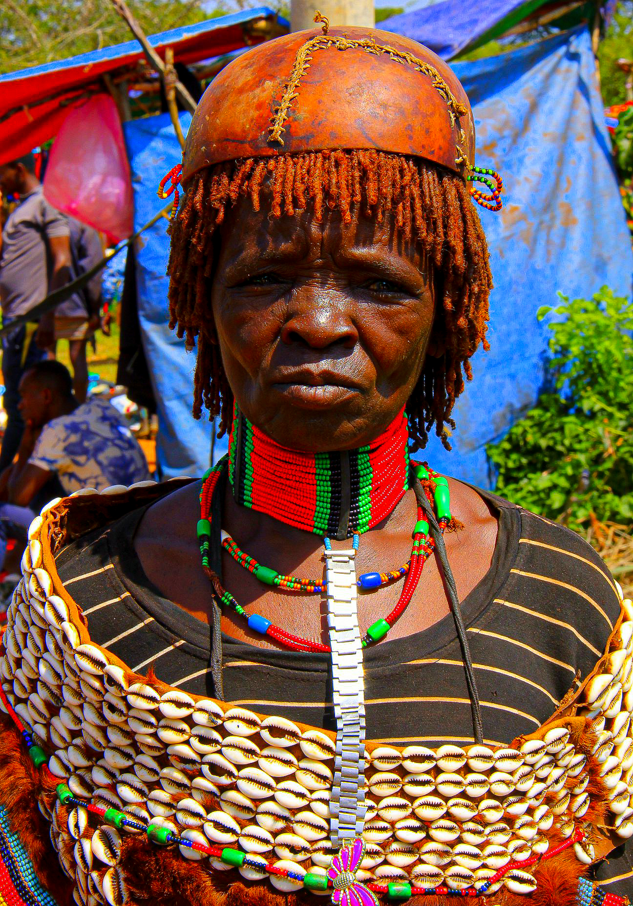 a hamar woman of the omo valley tribes