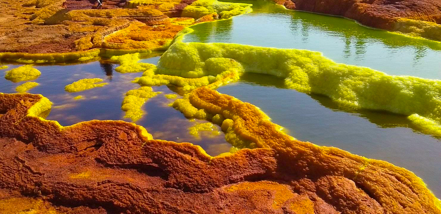 Sulphur springs at Dallol in Danakil Depression
