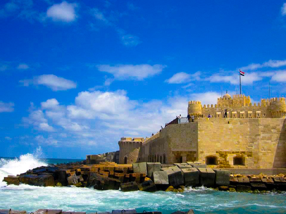 qaitbay castle at alexandria