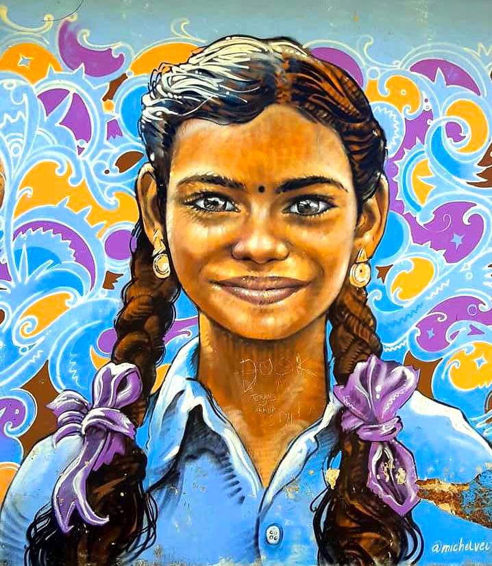 street art in fort cochin
